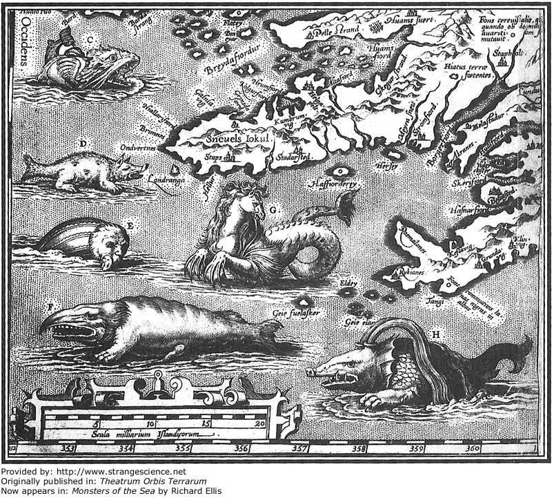 Monstros nos oceanos.